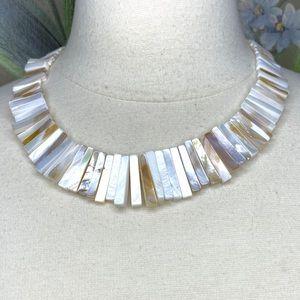 Jewelry - Artisan Abalone Shells Boho Statement Necklace